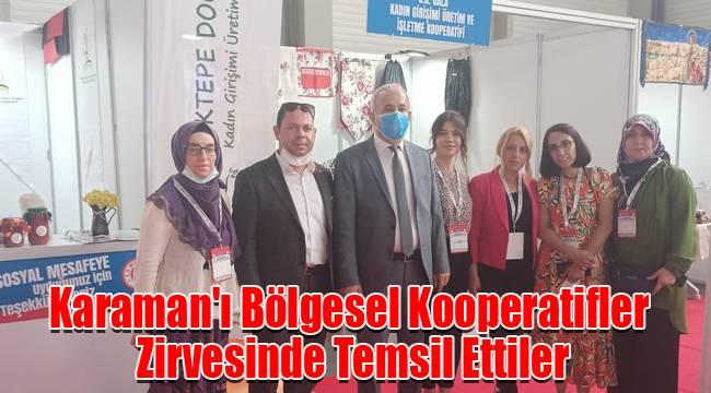 Karaman'ı Bölgesel Kooperatifler Zirvesinde Temsil Ettiler
