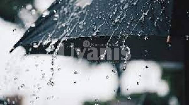 Meteoroloji'den Karaman'a Yağış Uyarısı