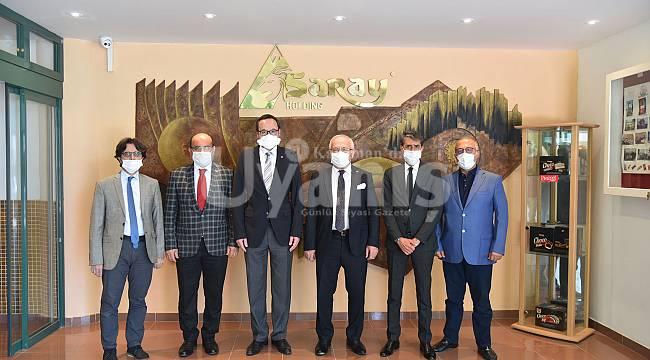 Rektör Namık Ak'tan Saray Holding'e Ziyaret