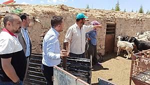 Vekil Eser, Ayrancı'da Hayvanları Telef Olan Üreticiyi Ziyaret Etti
