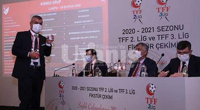 3. Lig Fikstürü Çekildi. Karaman Belediyespor ilk maçını deplasmanda Çatalcaspor ile yapacak