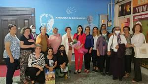 CHP Kadın Kolları Genel Başkan Yardımcısı Bülbül Karaman'daydı