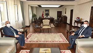Karaman Ağır Ceza Mahkemesi Eski Başkanı Özbey'den Vali Işık'a Veda Ziyareti