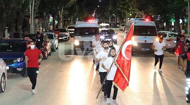 Karaman'da 15 Temmuz şehitleri sancak koşusu düzenlendi