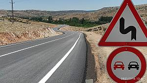 Karaman-Dereköy yolunda asfalt çalışmaları tamamlandı. Yol ulaşıma açıldı