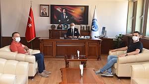 Karaman Eski Milletvekili Av. Akgün'den Rektör Namık Ak'a nezaket ziyareti