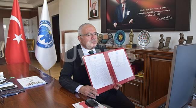KMÜ ve Ondokuz Mayıs Üniversitesi arasında protokol imzalandı