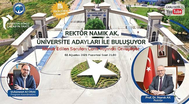 Rektör Namık Ak, Öğrencileri Türk Dilinin Başkenti Karaman'a Davet Edecek
