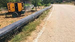 Yollarbaşı Göleti Kapalı Sulama Sisteminin Yapımına Başlandı
