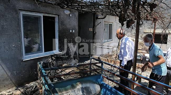 Bakan Elvan Mersin'de Yangın Bölgelerinde İncelemelerde Bulundu
