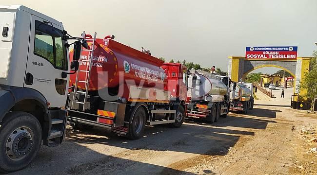 Ermenek Belediyesi'nden Antalya'ya Yangın Söndürme Aracı Ve Teknik Personel Desteği
