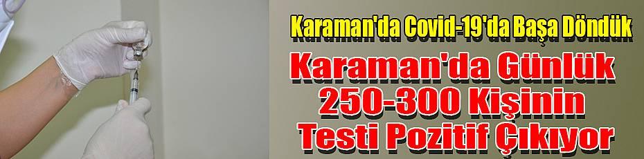 Karaman'da Günlük 250-300 Kişinin Testi Pozitif Çıkıyor