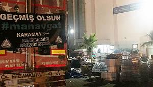 Karaman'dan toplanan yardımlar yangın bölgesine ulaştı