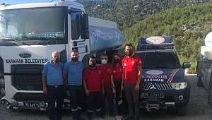 Orman yangınlarında Karaman itfaiyesi ile UMKE ekibi tek yumruk oldu