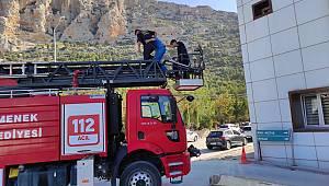 Ermenek Belediyesi İtfaiye Personelinden Hastane Çalışanlarına Yangın Eğitimi Verildi
