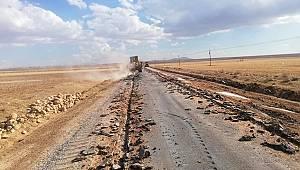 Karaman'da bir ilk yapılıyor, beton yol denemesinde çalışmalar başladı