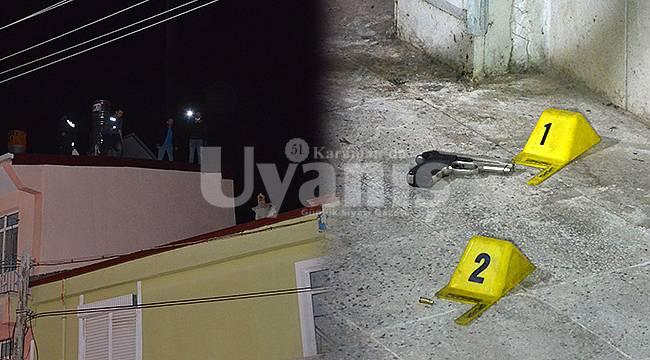 Karaman'da hareketli gece polisler şüphelileri yakalamak için çatıya çıktı