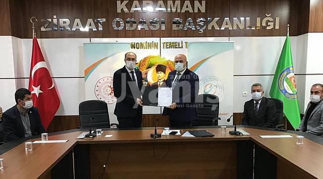 Karaman Ziraat Odası ile MEVKA arasında protokol imzalandı