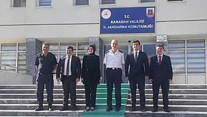 Kaymakamlardan Jandarma Komutanı Çetinkaya'ya Hayırlı Olsun Ziyareti