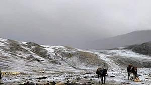 Kırkpınar Yaylasına İlk Kar Düştü