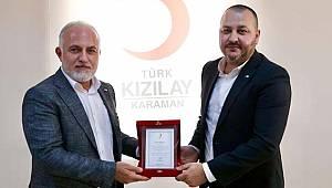 Türk Kızılay Genel Başkanı Dr. Kerem Kınık'tan Karaman Şubesine Ziyaret