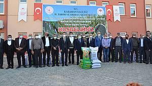 Karaman'da çiftçilere Macar fiği ve silajlık mısır tohumu dağıtıldı