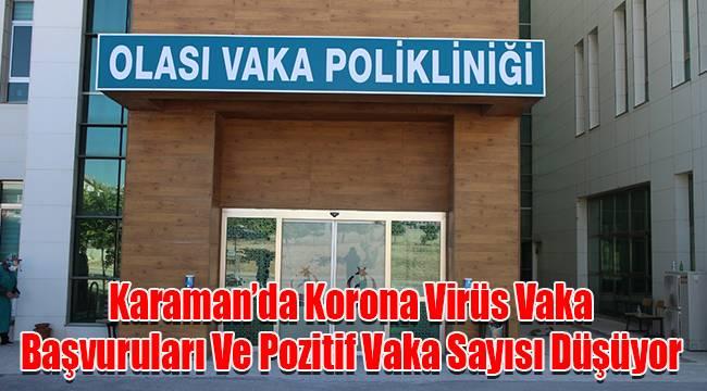Karaman'da Korona Virüs Vaka Başvuruları Ve Pozitif Vaka Sayısı Düşüyor