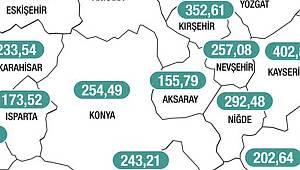 Karaman'da vaka sayılarındaki düşüş sürüyor