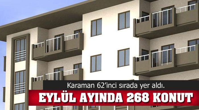 268 KONUT SATILDI