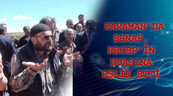 Karaman'da Esnaf, Recep'in Duasına Eşlik Etti