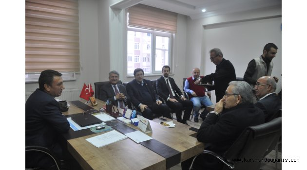 CHP'Lİ VEKİLLERİN KARAMAN TEMASLARI..