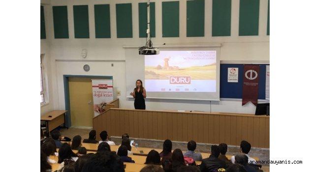 Duru'dan Üniversitede Bulgur Eğitimi