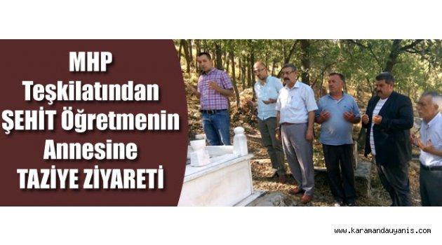 MHP'DEN TAZİYE..