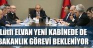 LÜTFİ ELVAN YENİ KABİNEDE..