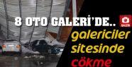 8 OTO GALERİ'DE ARAÇLAR HASAR GÖRDÜ