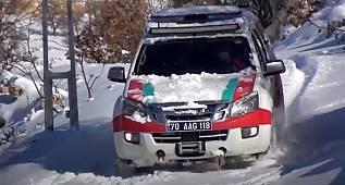 Karaman'da Filyasyon Ekipleri Zorlu Hava Şartlarına Rağmen Sahadalar