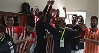 Karaman Belediyespor Darıca Maçı sonrası soyunma odasında coştu!